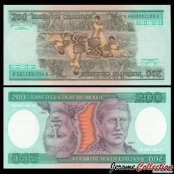 BRESIL - Billet de 200 Cruzeiros - 1984