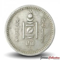 MONGOLIE - PIECE de 15 Mongo - 1937