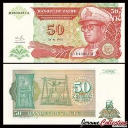 ZAIRE - Billet de 50 Nouveaux Makuta - 24.6.1993