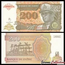 ZAIRE - Billet de 200 Nouveaux Zaïre - 15.2.1994