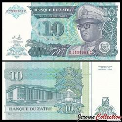ZAIRE - Billet de 10 Nouveaux Zaïre - 24.6.1993