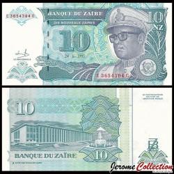 ZAIRE - Billet de 10 Nouveaux Zaïre - 24.6.1993 P55a