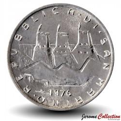 SAINT-MARIN - PIECE de 2 Lire - 1976