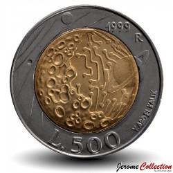 SAINT-MARIN - PIECE de 500 Lires - La surface de la lune - 1999 Km#394