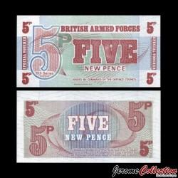 ROYAUME-UNI / ARMEE - Billet de 5 New Pence - 1972