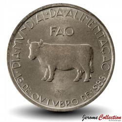 PORTUGAL - PIECE de 5 Escudos - Fao - Vache - 1983