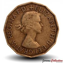 ROYAUME UNI - PIECE de 3 Pence - 1955