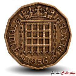 ROYAUME UNI - PIECE de 3 Pence - 1956 Km#900