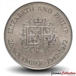 ROYAUME UNI - PIECE de 25 Pence - Noces d'argent - 1972 Km#917