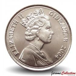 GIBRALTAR - PIECE de 10 Pence - L'opération anglo-américaine Torch 1942 - 2004