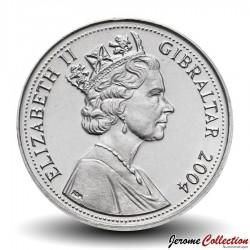 GIBRALTAR - PIECE de 5 Pence - Sceptre - 2004