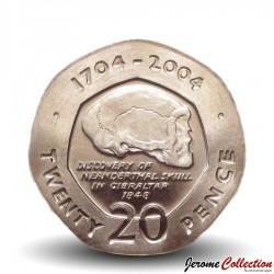 GIBRALTAR - PIECE de 20 Pence - Crane humain - 2004 Km#1048