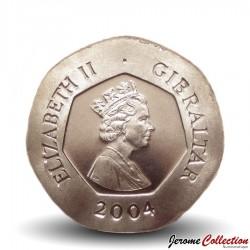 GIBRALTAR - PIECE de 20 Pence - Crane humain - 2004