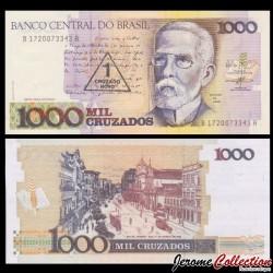 BRESIL - Billet de 1 Cruzado Novo - 1989