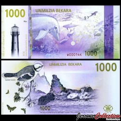 KOMPLECE - Billet de 1000 Bekara - Oiseau / Dauphins - 2019 01000