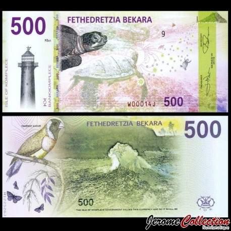 KOMPLECE - Billet de 500 Bekara - Oiseau / Tortue - 2019