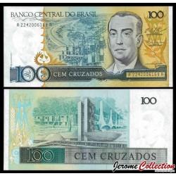 BRESIL - Billet de 100 Cruzados - 1986 / 1988