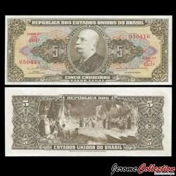 BRESIL - Billet de 5 Cruzeiros - 1962 / 1964