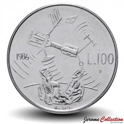 SAINT-MARIN - PIECE de 100 Lire - Vaisseau spacial - 1986