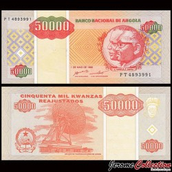 ANGOLA - Billet de 50000 Kwanzas Reajustados - 1995 P138a