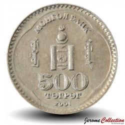 MONGOLIE - PIECE de 500 Tugrik - 80 Ans De La Révolution De 1921 - 2001 Km#195