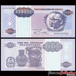 ANGOLA - Billet de 100000 Kwanzas Reajustados - 1995 P139a