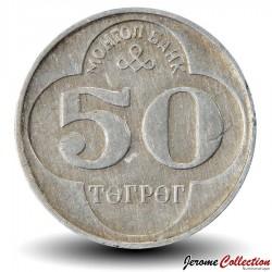 MONGOLIE - PIECE de 50 Tugrik - 1994