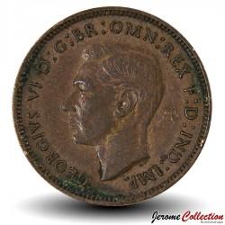ROYAUME UNI - PIECE de 1 Farthing George VI - 1946