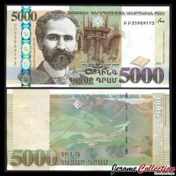 ARMENIE - Billet de 5000 DRAM - 2012
