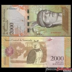 VENEZUELA - Billet de 2000 Bolivares - Aigle harpie américain - 19 08 2016 P96b