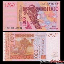 SENEGAL - Billet de 1000 Francs - Dromadaires - 2019