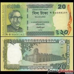 BANGLADESH - Billet de 20 Taka - 2014