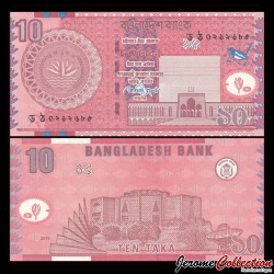 BANGLADESH - Billet de 10 Taka - Assemblée nationale - 2010