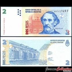 ARGENTINE - Billet de 2 Pesos - 2005 / 2006 P352a3
