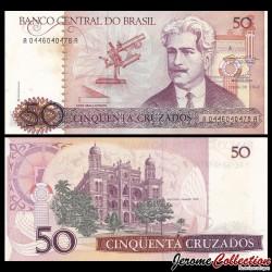 BRESIL - Billet de 50 Cruzados - 1986 / 1988