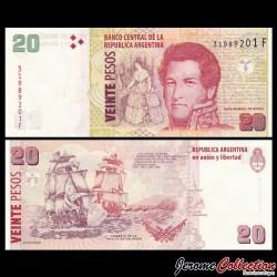 ARGENTINE - Billet de 20 Pesos - Voiliers - 2018