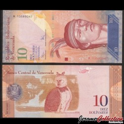 VENEZUELA - Billet de 10 Bolivares - 03 09 2009 P90b