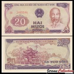 VIETNAM - Billet de 20 Dong - Pagode au pilier unique - 1985