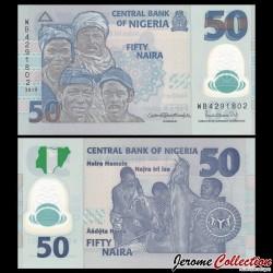 NIGERIA - Billet de 50 Naira - Polymer - 2019