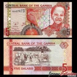 GAMBIE - Billet de 5 Dalasis - 2013