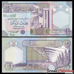 LIBYE - Billet de ½ Dinar - Raffinerie - 2002 P63a