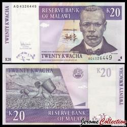 MALAWI - Billet de 20 Kwacha - Culture du Thé - 31.10.2006 P52b