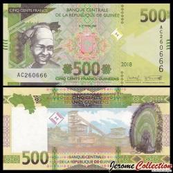 GUINEE - Billet de 500 Francs - 2018 P53a