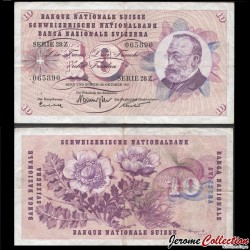 SUISSE - Billet de 10 Francs - Gottfried Keller - 24.10.1961