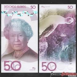 REDONDA - Billet de 50 Pounds - Oiseau - 2019