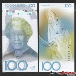 REDONDA - Billet de 100 Pounds - Reptile - 2019