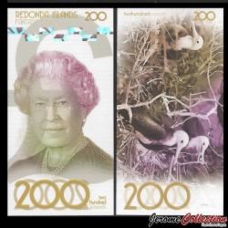 REDONDA - Billet de 200 Pounds - Oiseaux - 2019