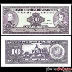 VENEZUELA - Billet de 10 Bolivares - Monument de la bataille de Carabobo - 05.06-1995 P61d