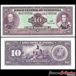 VENEZUELA - Billet de 10 Bolivares - Monument de la bataille de Carabobo - 31.05-1990 P61b