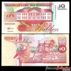 SURINAME - Billet de 10 Gulden - 10.2.1998